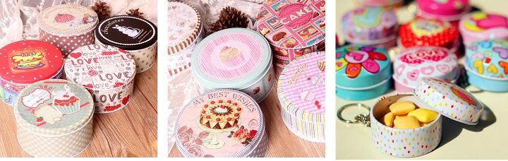 Жестяные коробки для сладостей