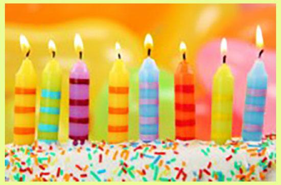 Свечи на день рождении