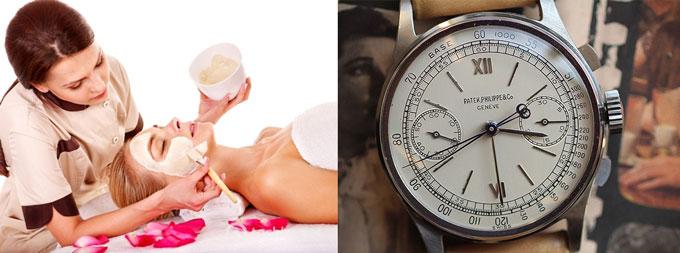 Спа-процедура и командирские часы