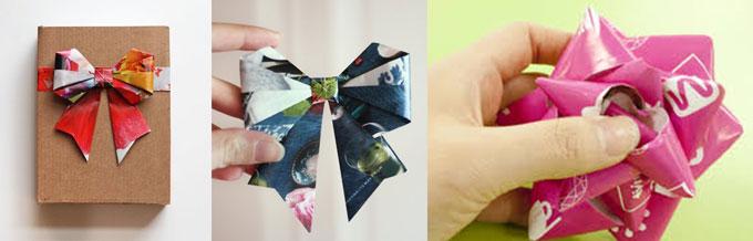 Самодельные банты для подарков