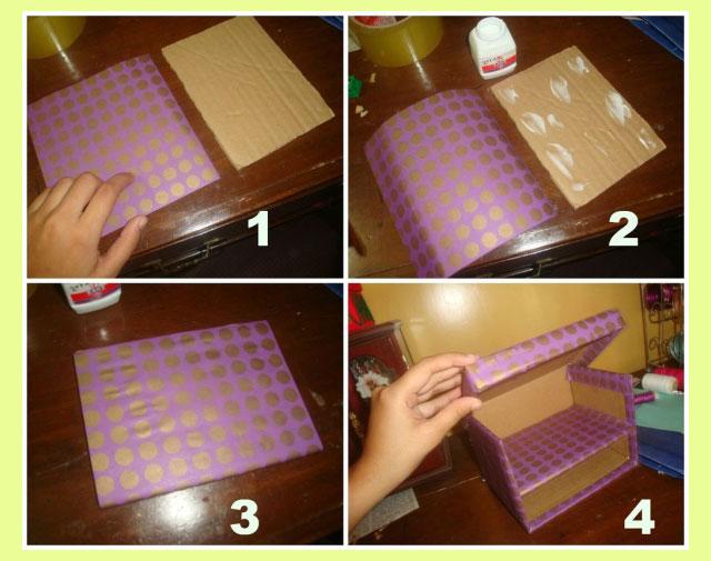 Этапы изготовления шкатулки из бумаги