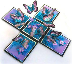 Коробочка с бабочками в подарок