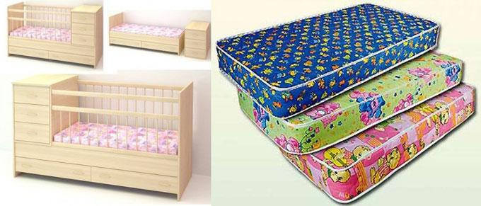 Кроватки трансформеры и детские матрасы