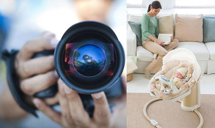Фотографирование младенца и мамы