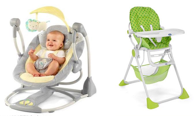 Детские качельки и стульчик для кормления