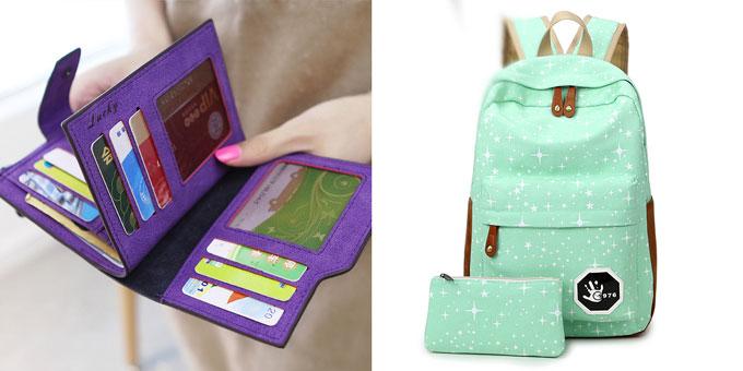Стильные рюкзачок и кошелек
