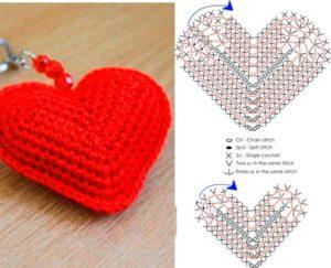 Вязанное сердечко - футляр