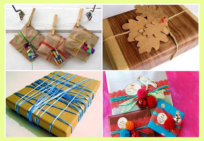Варианты упаковки подарка