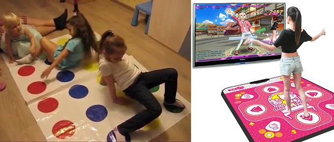 Игра твистер и танцевальный коврик для девочек