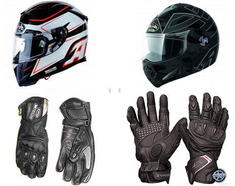 Перчатки и шлем мотоциклиста