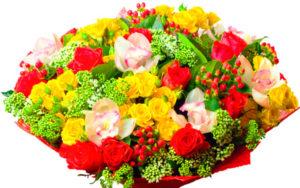 Букет цветов в подарок жене на годовщину свадьбы 5 лет