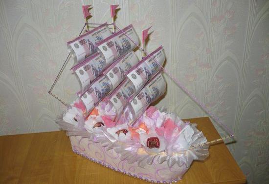 был уже кораблик с парусами из денежных купюр фото маленький ротик