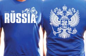 Футболка с российской символикой