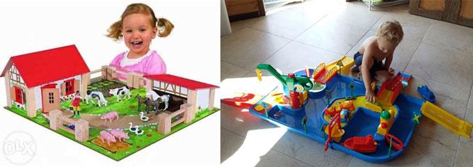 Детские ферма и стройка