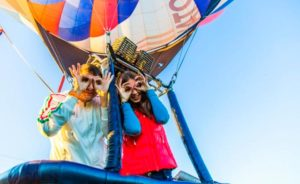 Романтический полет-пикник на воздушном шаре