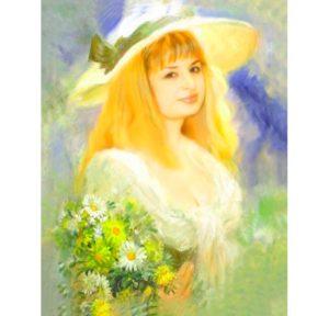 Портрет на холсте в подарок жене