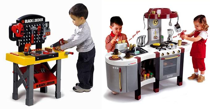 Детские уголки кухня и мастерская