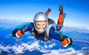 Прыжок с парашюта в подарок мужу