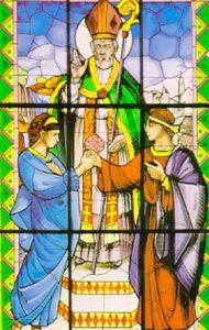 Святой Валентин венчает влюбленных