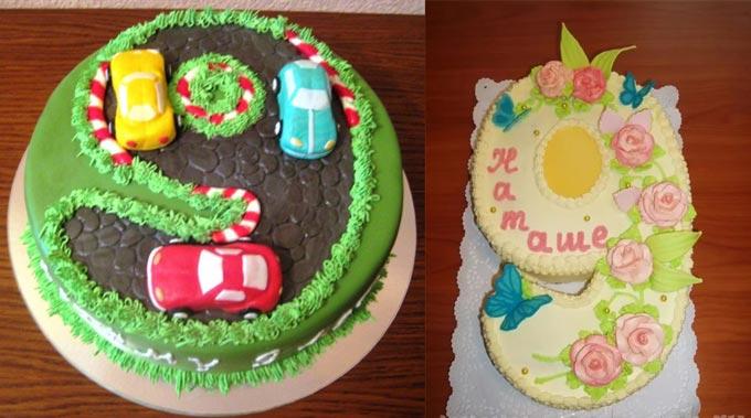 Торт на день рожденья на 9лет
