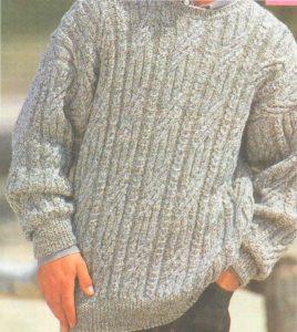 Вязанный свитер мужу своими руками