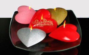 Валентинки из свечей