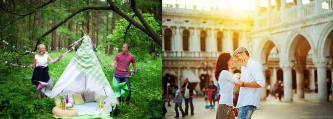 Пикник на природе и романтичная прогулка