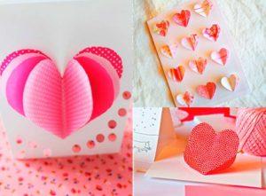 Бумажные сердечки в открытках