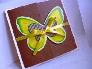 Бабочка-открытка маме