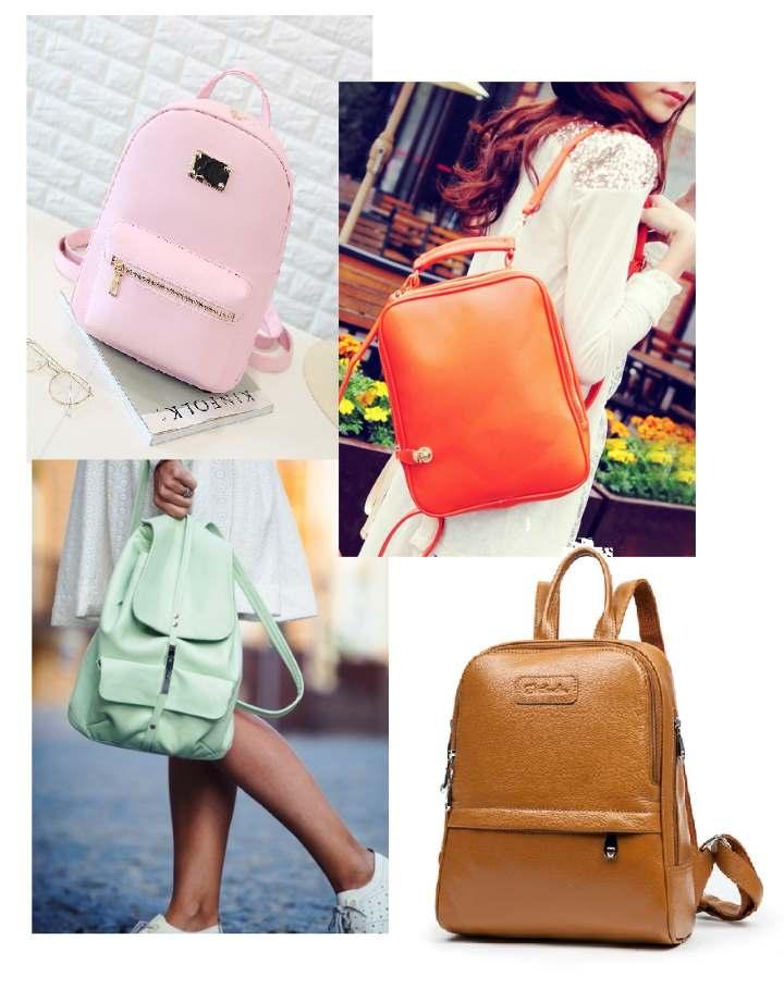 Разноцветные виды рюкзаков
