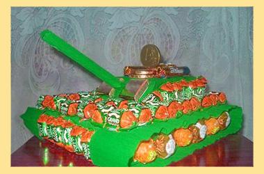 Танк из конфет