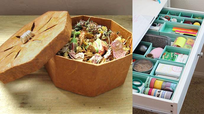 Самодельные коробки для хранения мелочей