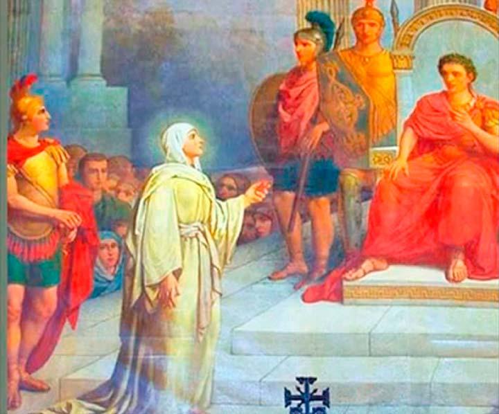 Мария Магдалина вручает императору яйцо в честь воскресения ИИсуса