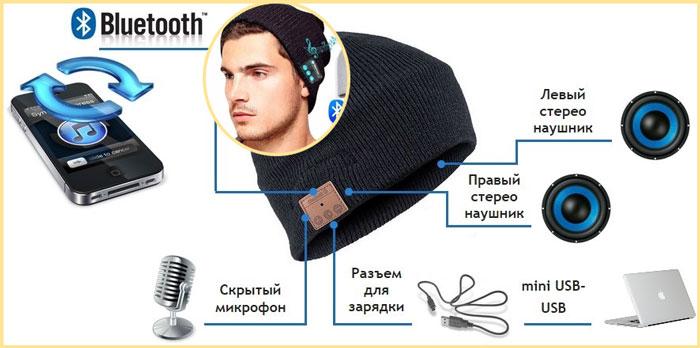 Bluetooth-шапка и схема подключения