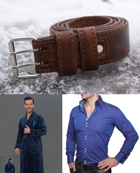 Мужские ремень, халат и рубашка