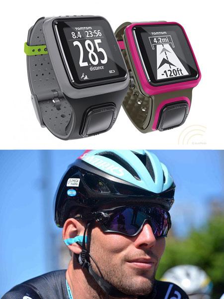 Фитнес браслеты, очки и каска для велосипедиста