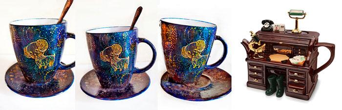 Оригинальные чашки и заварник