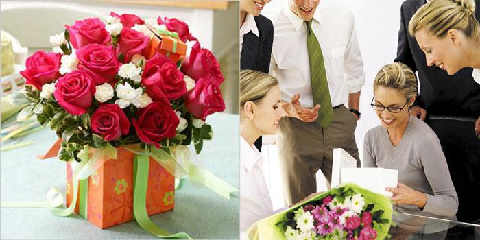 Цветы начальнице в подарок
