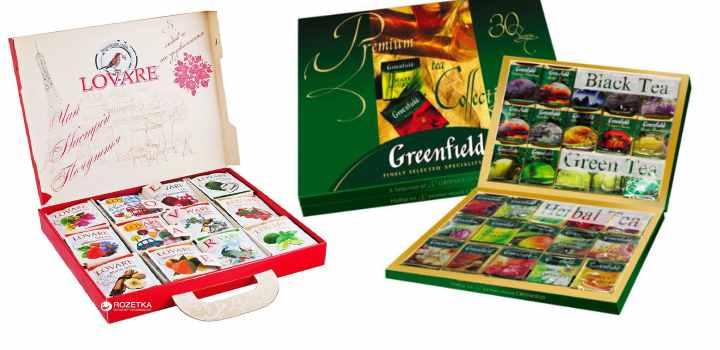 Чай в пакетиках подарочные варианты