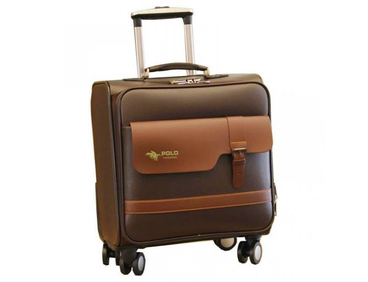 Прочный кожаный чемодан в подарок