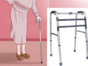 Палочка и ходунки для пожилого человека