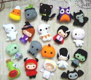 Фетровые игрушки для хеллоуина