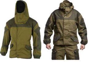 Куртка и костюм из камуфлированной ткани