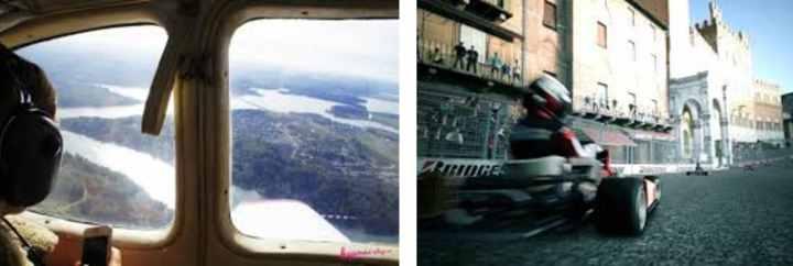 Вид с самолета на землю