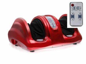 Красный электромассажер для ног