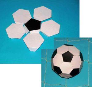 Бумажный мяч своими руками