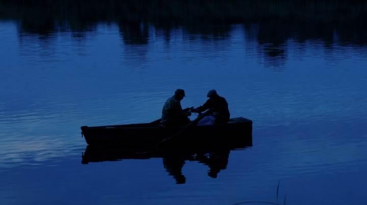 С тестем на рыбалке