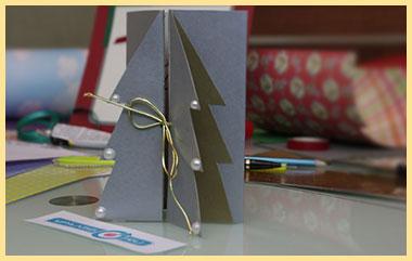 Самодельная открытка елочка