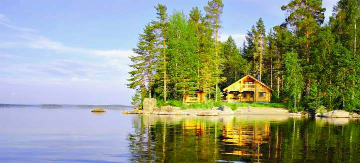 Турбаза на озере