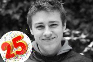 25-летие молодого человека